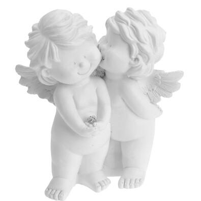 Îngeri de Crăciun Kiss in Sky, 13,5 cm