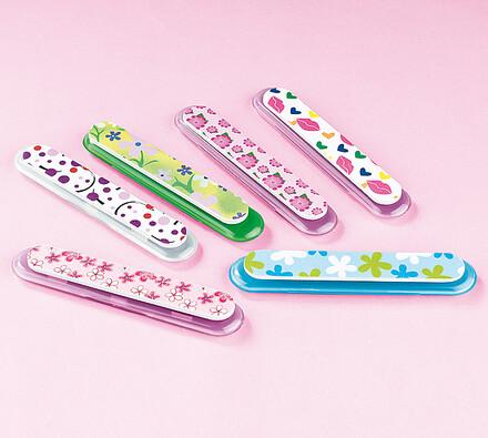 Pilníčky na nehty, sada 6 ks, vícebarevná, 13 cm