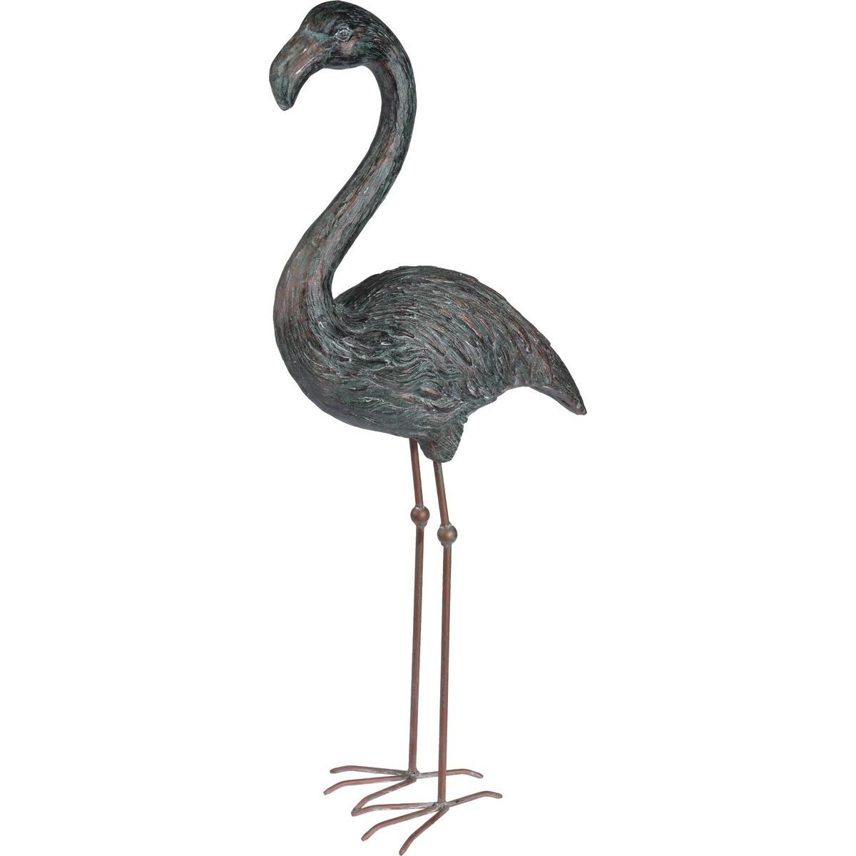 Koopman Dekorační Plameňák šedá, 80 cm