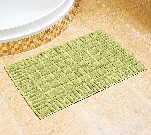Kúpeľňová predložka, zelená, 50 x 70 cm, zelená, 50 x 70 cm