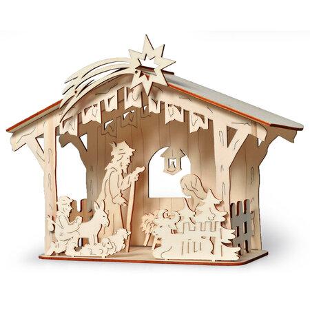 Drevený betlehem stavebnica