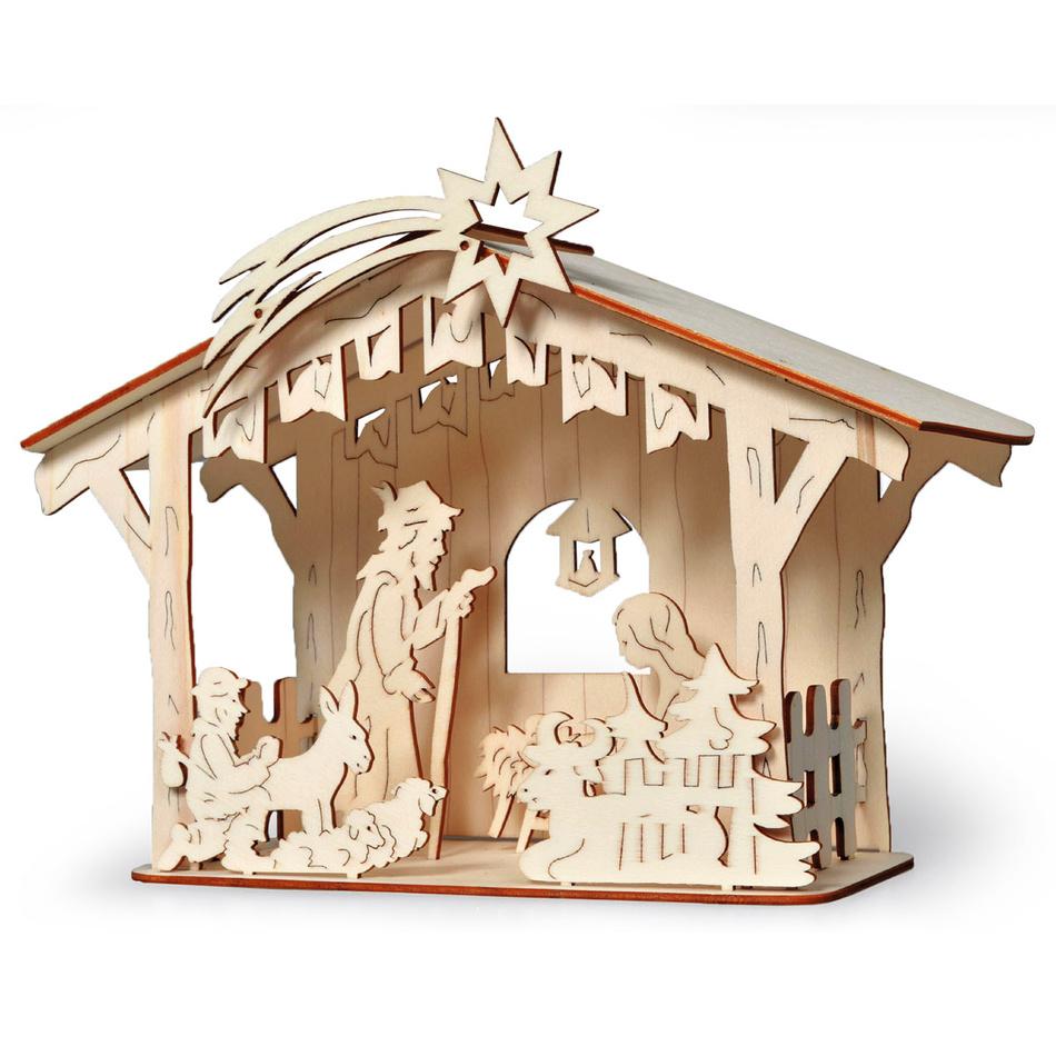 Dřevěný betlehém stavebnice, HTH