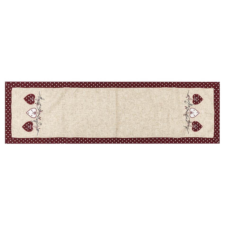 BO-MA Trading Vianočný behúň Srdiečka bodka červená, 40 x 140 cm