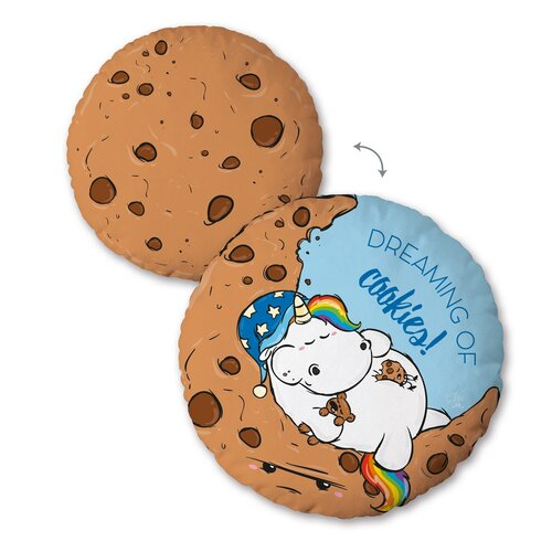 Vankúšik Pummel Einhorn Cookies, 30 cm
