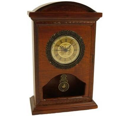 Dekorační hodiny s kyvadlem, hnědá, 28 x 18 x 9 cm