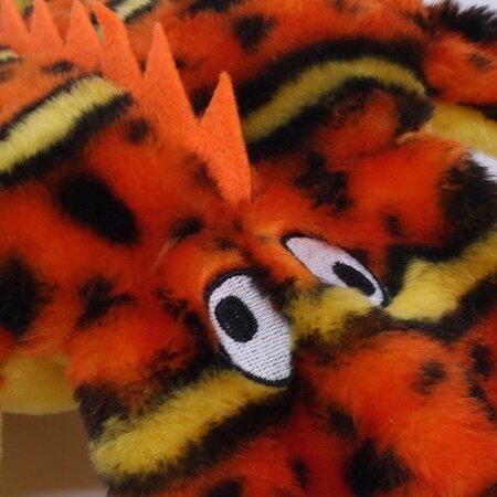Gekón s 2 pískatky Kyjen, oranžová