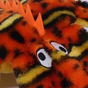 Gekon s 2 pískátky Kyjen, oranžová