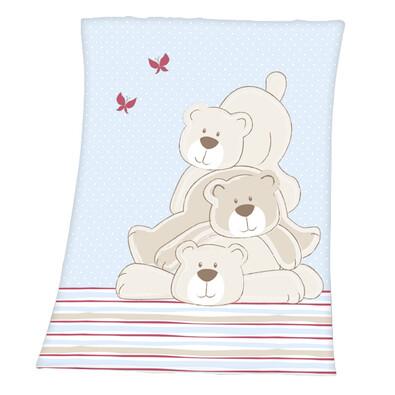 Dětská deka Luis Polar bears, 75 x 100 cm