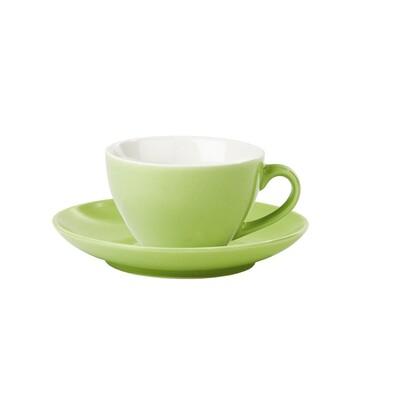 Šálek s podšálkem zelená