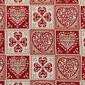 """Obrus świąteczny """"Serduszka"""", 100 x 100 cm"""