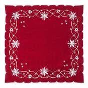 Vánoční ubrus Vánoční hvězda červená, 120 x 140 cm