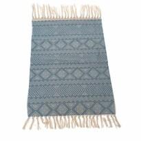 Mozaik szőnyeg futó, kék, 90 x 60 cm