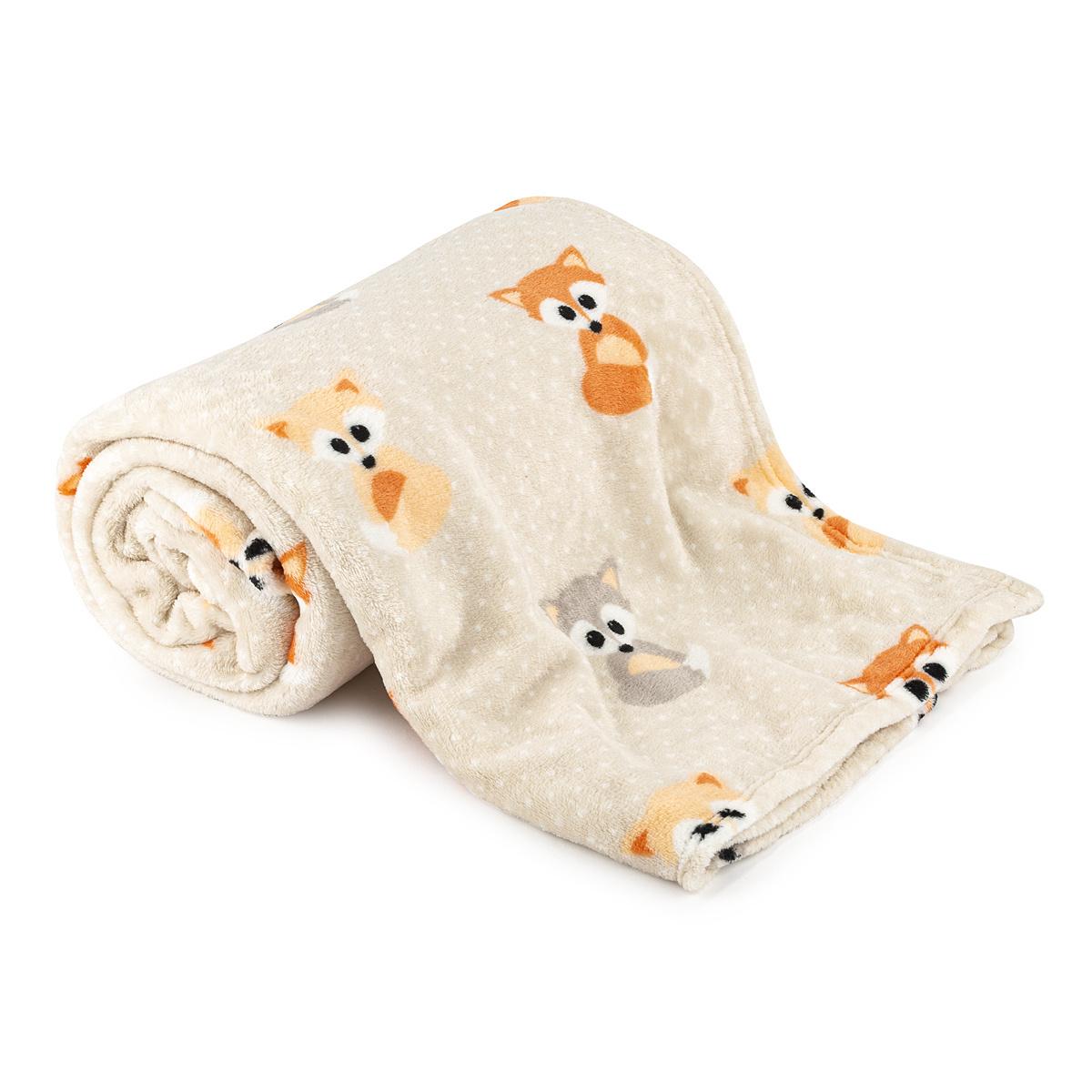 4Home deka Soft Dreams Little Fox, 150 x 200 cm