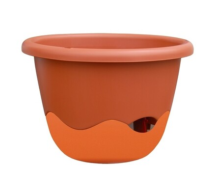 Samozavlažovací květináč Mareta 25 oranžová, závěsný