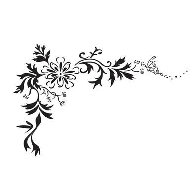 Samolepicí dekorace motýl v pokušení