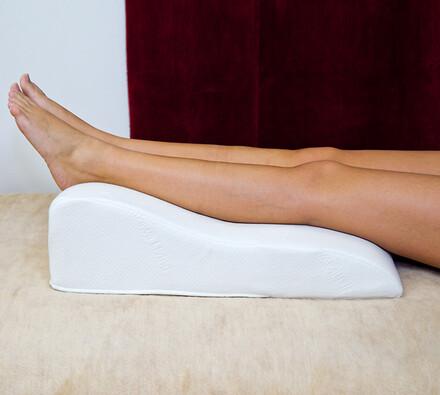 Zdravotní polštář pod nohy, bílá, 55 x 40 x 16,5 cm