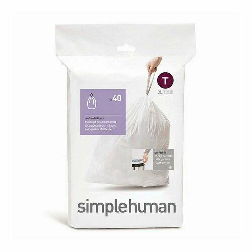 Simplehuman Vrecká do odpadkového koša T 3 l, 40 ks
