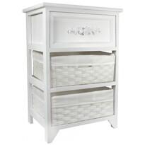 Komoda 3 szuflady Vintage biały 40 x 29 x 58 cm