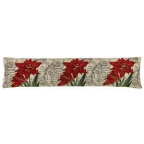 Pernă de etanșare decorativă pentru ferestre Crin roșu, 90 x 20 cm