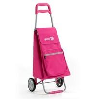 Torba na zakupy z kółkami Argo różowa