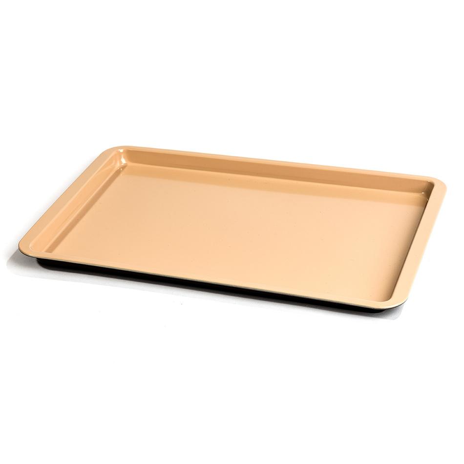 4Home Plech s keramickým povrchem nízký, hnědá, 42 x 29 x 2 cm