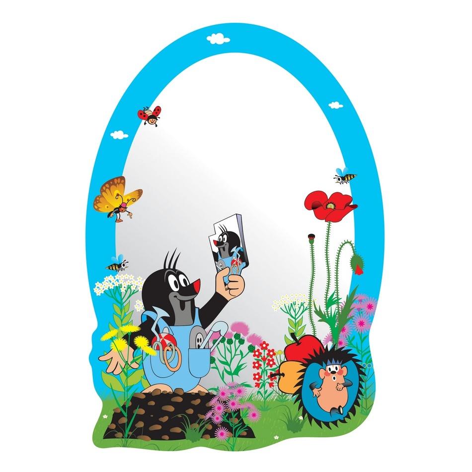 AG Art Samolepicí dětské zrcadlo Krteček, 15 x 21,5 cm