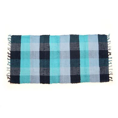 Tkaný koberec modrá, 70 x 140 cm