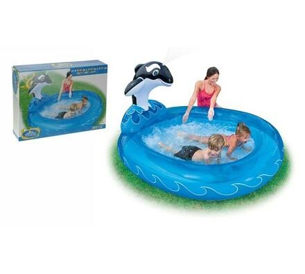 Dětský bazén s kosatkou, Intex, modrá, pr. 157 cm