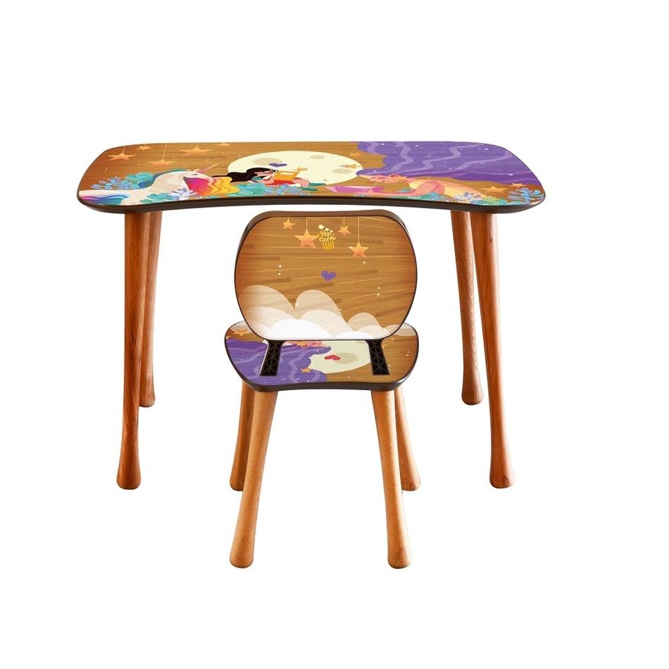Dětský stolek s židličkou Čtení, 90 x 52 x 60 cm