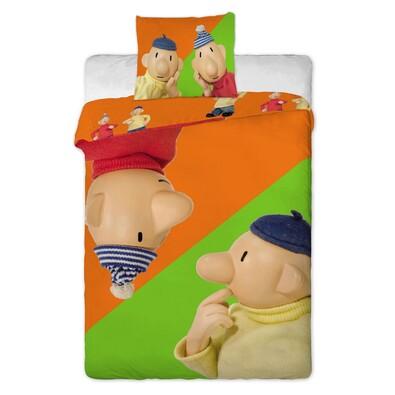 Pat & Mat orange gyerek pamut ágyneműhuzat, 140 x 200 cm, 70 x 90 cm