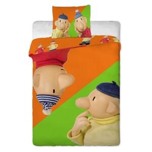 Dětské bavlněné povlečení Pat a Mat orange, 140 x 200 cm, 70 x 90 cm