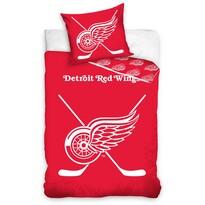 Lenjerie de pat luminoasă NHL Detroit Red Wings, bumbac, 140 x 200 cm, 70 x 90 cm