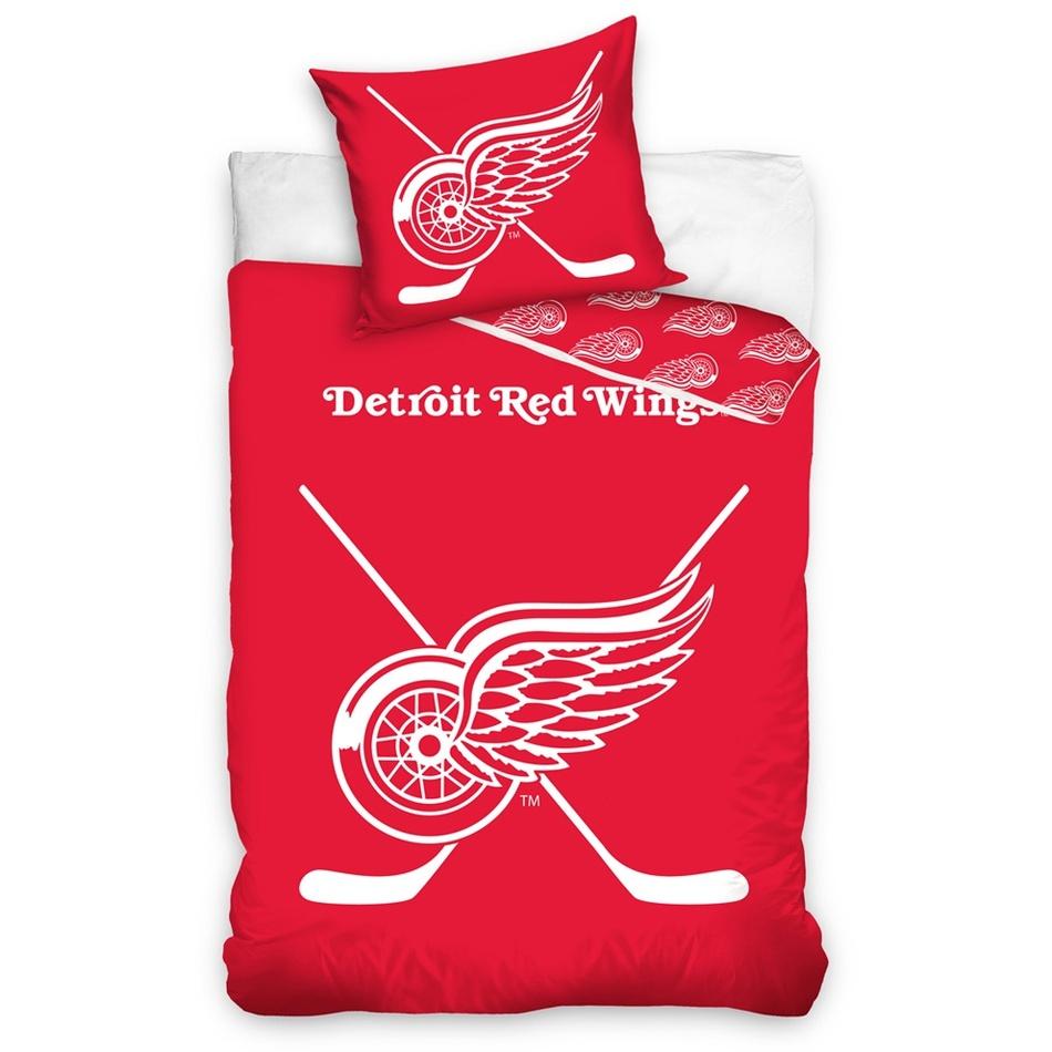 TipTrade Bavlněné svíticí povlečení NHL Detroit Red Wings , 140 x 200 cm, 70 x 90 cm