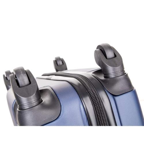 Pretty UP Walizka na kółkach ABS16 niebieski, 37 x 49 x 23 cm