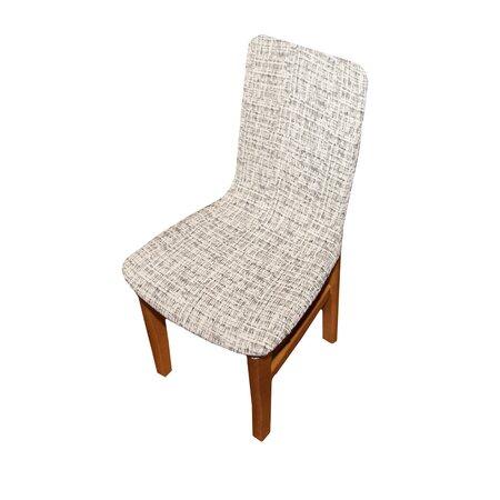 Luxusní potah Andrea na židli bílo-černá, sada 2 ks