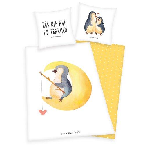 Detské bavlnené obliečky Tučniaci, 140 x 200 cm, 70 x 90 cm