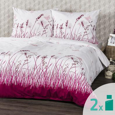 Lenjerie pat 2 seturi 4Home Pajiște cu fluturi 2 x 140 x 200 cm, 70 x 90 cm