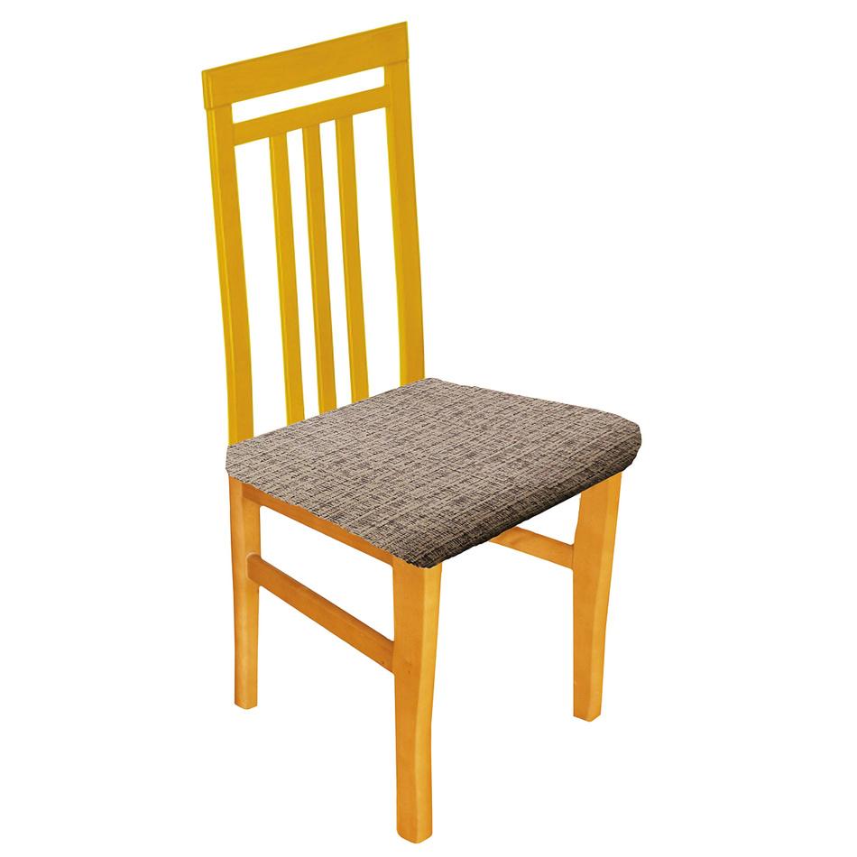 Forbyt Luxusný poťah Andrea na sedák hnedá, sada 2 ks