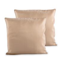 4Home Poszewka na poduszkę beżowy, 2x 40 x 40 cm