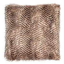 Poduszka pręgowana jasnobrązowy, 45 x 45 cm