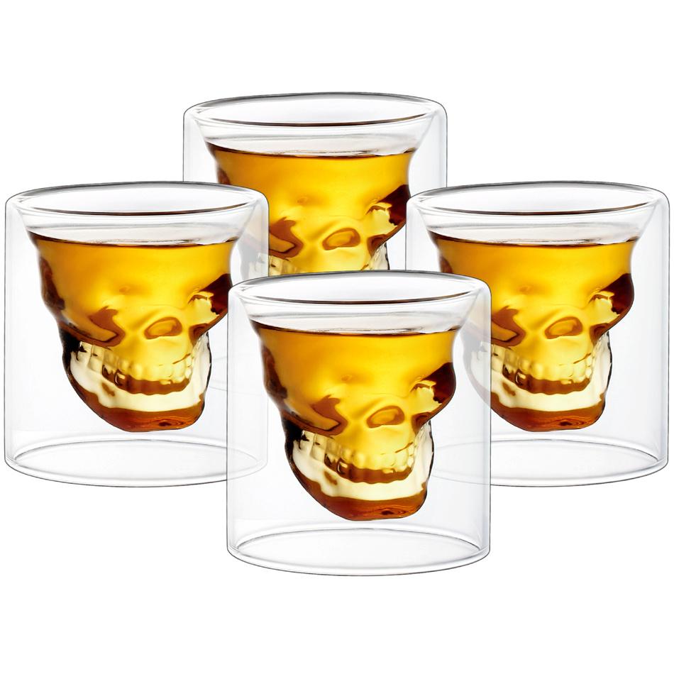 4home Set pahare shot Skull Hot&Cool 20 ml, 4 buc. imagine