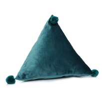 Domarex Polštář pyramida Trevi Velvet zelená, 40 x 40 x 40 cm