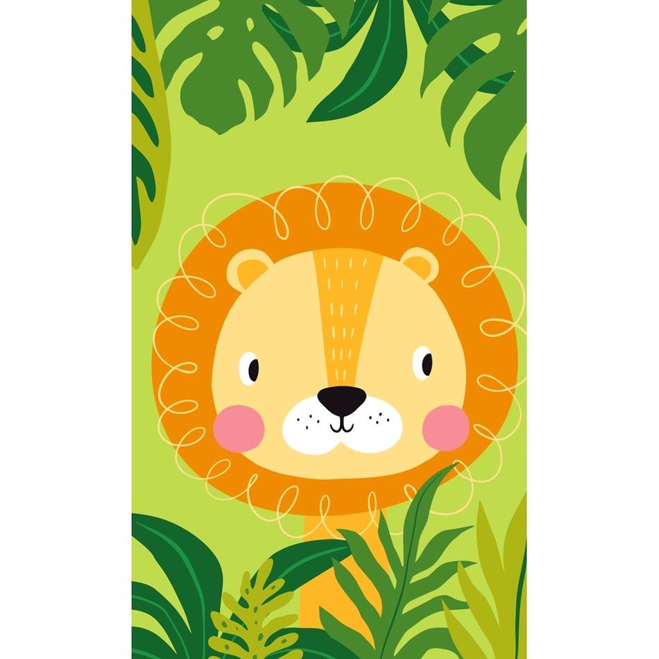 Oroszlán a dzsungelben gyermek törölköző, 30 x 50 cm