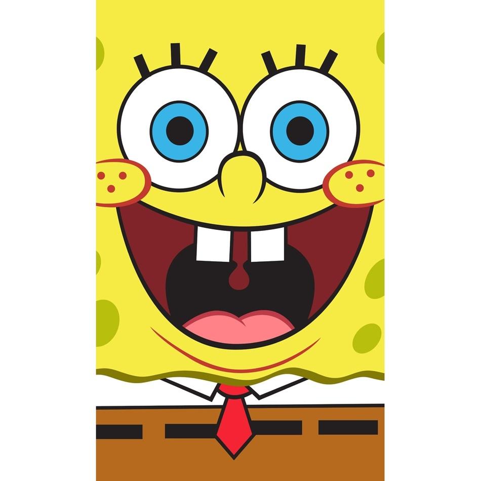 Spongya Bob Face gyermek törölköző, 30 x 50 cm