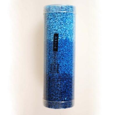 Dekorační písek modrý