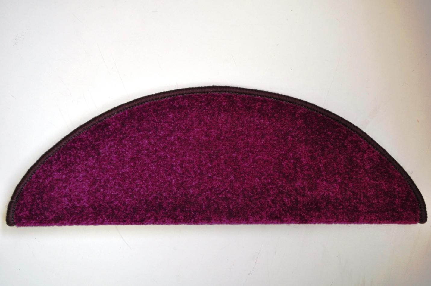 Vopi Kobercové nášlapy na schody Eton 24 x 65 cm - Fialová