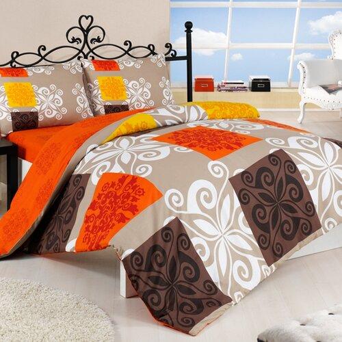Povlečení Sedef oranž bavlna