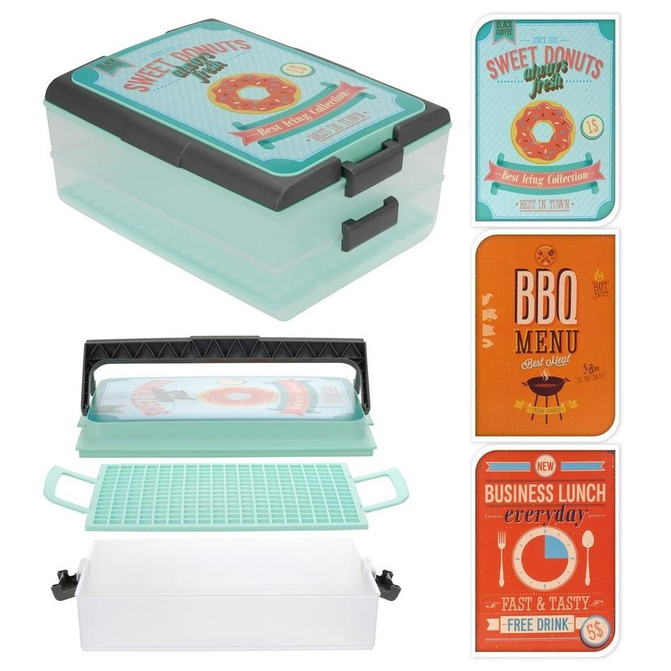 2poschodový box na potraviny XXL