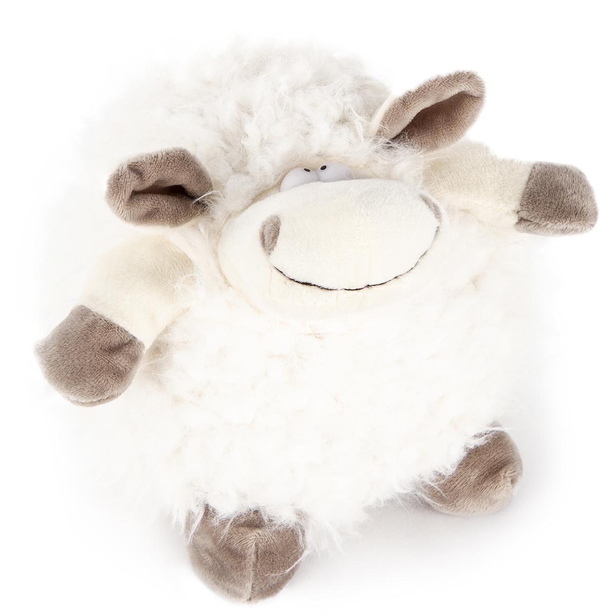 Bo-Ma Trading Plyšová ovce Bílá koule, 17,5 cm