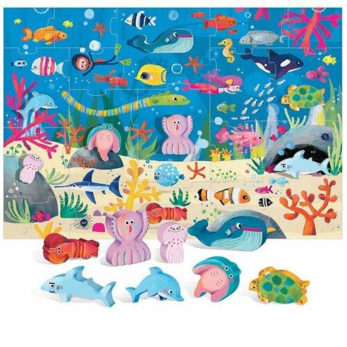 Fotografie HEADU Mořský svět s 8 dřevěnými vkládacími figurkami
